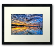 Painters Canvas - Newport NSW - The HDR Experience Framed Print