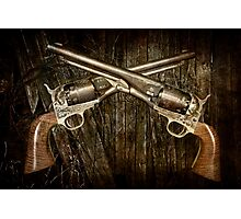 A Brace of Navy Colt Revolvers Photographic Print