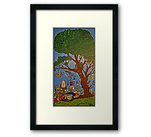Picnic under Tree Framed Print