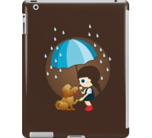 Little girl and cute puppy iPad Case/Skin
