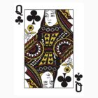 Queen of Clubs Playing Card by CrazyAsia