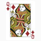 Queen of Diamonds Playing Card by CrazyAsia