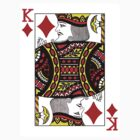 King of Diamonds Playing Card by CrazyAsia