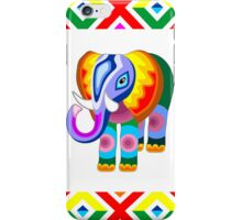 Elephant Rainbow Colors Patchwork iPhone Case/Skin