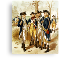 Infantry Of The Revolutionary War Canvas Print