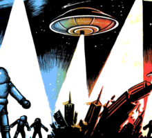 Earth Vs The Flying Saucers Sticker