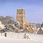 Snow in the Cotswold Hills. by Isenwolf