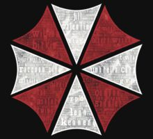 Resident Evil Umbrella Typography by roforce