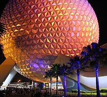 Spaceship Earth at Night by David Lamb