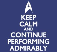 Continue Performing Admirably by ay-zup