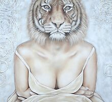 La femme tigre - The tiger woman by Caroline Houde