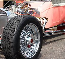 Classic Pink Hot Rod Coup Muscle Car by Amy McDaniel