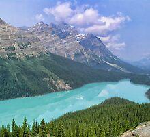 Peyto Lake - A Shooting Star by Chantal PhotoPix