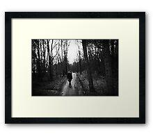 girl in the Woods. Framed Print