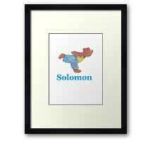 Solomon with Grizzly Yoga Bear Framed Print