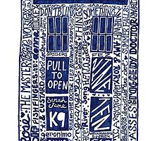 Doctor Who Tardis Art by samonstage