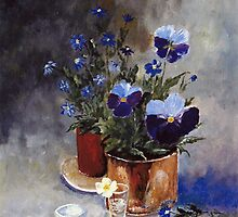 Pansies by Halina Plewak
