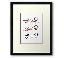 Gender Equality: It's Simple Framed Print