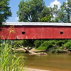 Oakalla Covered Bridge Over Big Walnut Creek by Kenneth Keifer