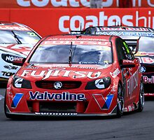 Scott McLoughlin Leading Jamie Whincup At The V8 Supercars Ipswich 360 by Noel Elliot