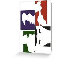 Cowboy Bebop Colored Panels Greeting Card