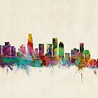 Los Angeles City Skyline by ArtPrints