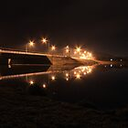 Lake Tuggeranong dam (by night) by Property & Construction Photography
