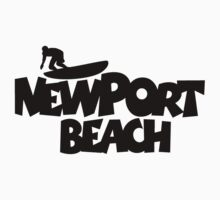 Newport Beach Surfing by theshirtshops