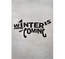 House Stark, Winter Is Coming Photographic Print
