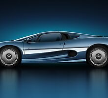 Jaguar XJ220 - Azure by Marc Orphanos