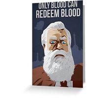Bioshock Infinite - Prophet Comstock Propaganda Greeting Card