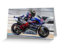 Jorge Lorenzo at laguna seca 2013 Greeting Card