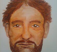 Bearded Man - Watercolour Portrait by Janette Oakman