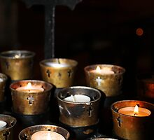 Church Candles by Henrik Lehnerer