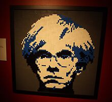 Lego Andy Warhol, Art of the Brick Exhibition, Discovery Times Square, New York City, Nathan Sawaya, Artist by lenspiro