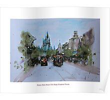 Disney Main Street USA Magic Kingdom Florida Poster