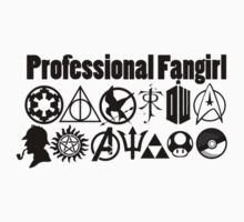 Professional Fangirl v4 Kids Clothes
