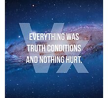 Truth Conditions Photographic Print