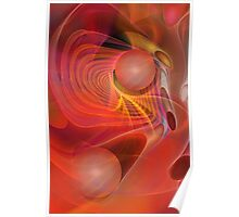 Red Magic, abstract fractal art Poster