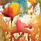 Poppies Watercolor on Yupo by Yevgenia Watts