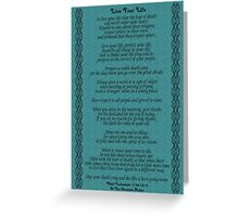 """Live Your Life""  by Chief Tecumseh Turquoise  Greeting Card"