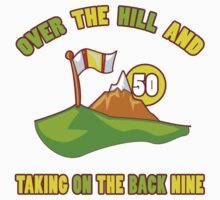Funny 50th Birthday Golf Gift by thepixelgarden