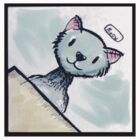 Meow Watercolor sticker by Heriberto Martinez