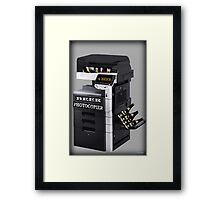 ✿♥‿♥✿BEER PHOTOCOPIER PICTURE / CARD..CAN U IMAGINE WHAT IF LOL HA ✿♥‿♥✿ Framed Print