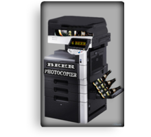 ✿♥‿♥✿BEER PHOTOCOPIER PICTURE / CARD..CAN U IMAGINE WHAT IF LOL HA ✿♥‿♥✿ Canvas Print