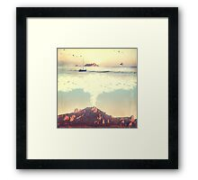 The Dreamy Mountain Framed Print
