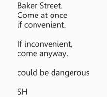 Sherlock Holmes text message by ShireLocked