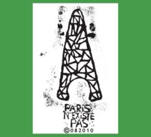 Paris N'Existe Pas - Eiffel Tower - Paris Does Not Exist - Black White Kids Clothes