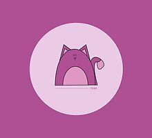 Purple Cat iPad Case by Louise Parton