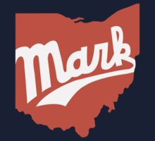Script MARK Ohio (Navy) by Mark Omlor